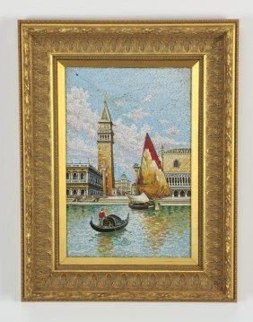 Framed Italian Micro-mosaic Of Venice