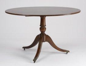 19th C. English Sheraton Style Mahogany Table