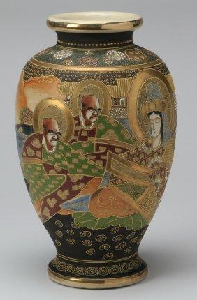 """Mid 20th C. Japanese Satsuma Vase, 16""""h"""