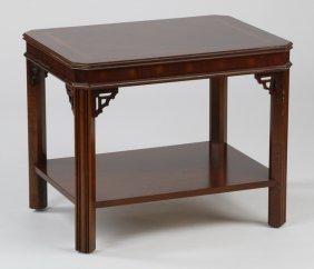 Mahogany Inlaid Side Table