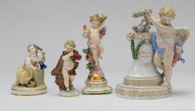 (4) 19th C. Meissen Figurines, Marked
