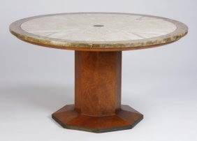 Mid 20th C. Marble Inlaid Center Table