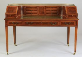 "Regency Style Carlton House Desk, 61""w"