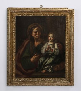 18th C. Italian School O/c Madonna & Child