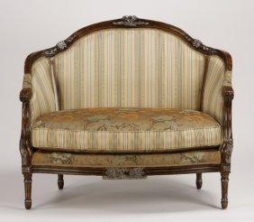 Contemporary French Style Settee