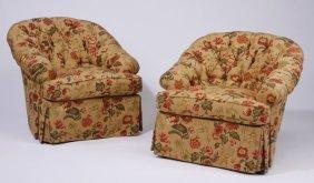 (2) Nearly New Custom Designed Club Chairs