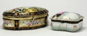 (2) French Style Porcelain Trinket Boxes