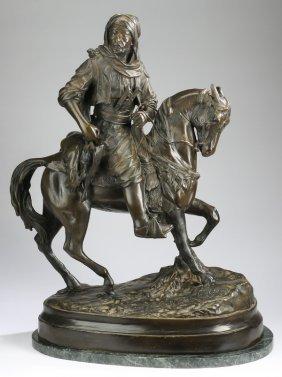 """French Orientalist Bronze, Circa 1900, 29""""h"""