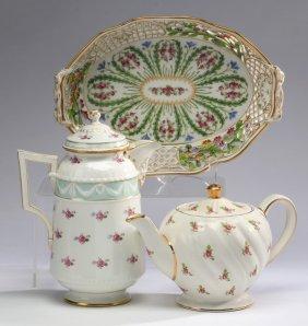 3-pieces Kpm & Dresden Porcelain