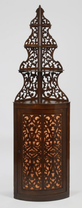 """19th C. French Rosewood Corner Etagere, 83""""h"""