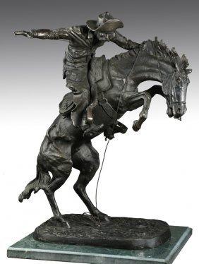 Bronze Figural Sculpture, After Remington