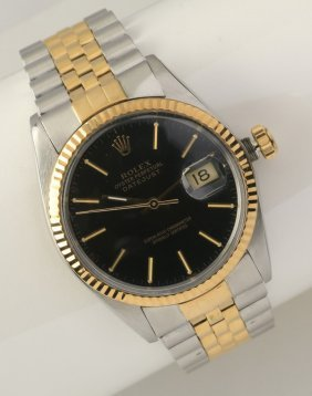 Men's Stainless And 18kt Gold Rolex