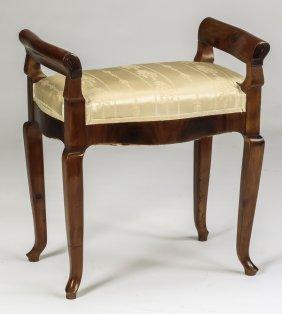 "Regency Style Two-handled Vanity Bench, 26""h"