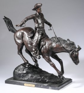 "Bronze 'arizona Cowboy' After Remington, 21""h"