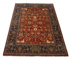 Hand Knotted Wool Serapi Rug, 9 X 12