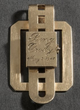 Money clip w/ photos owned by Bing Crosby, 1947