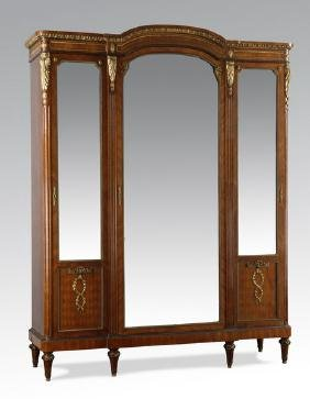 Bronze armoires wardrobes for sale in online auctions for Triple french doors for sale