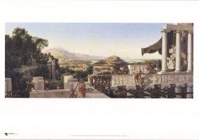 Schinkel Blick In Griechenlands Blute Poster