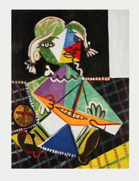 Picasso Maya With Sail Boat Poster