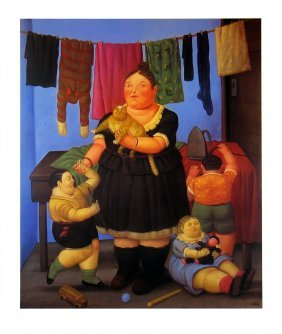 1999 Botero The Widow Poster