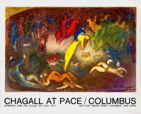 Marc Chagall - Abduction Of Chloe - 1977