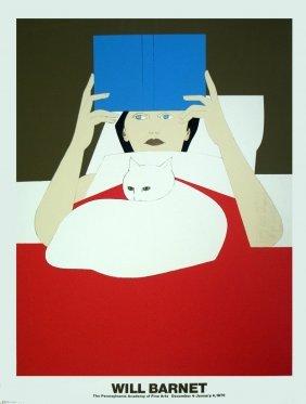 Will Barnet - Woman Reading - 1970