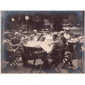 Gustav Klimt With Friends, Meierei Tivoli