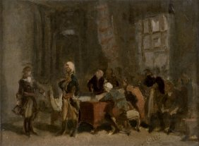 Annibale Gatti 1827 -1909 Meeting Of Layafatte