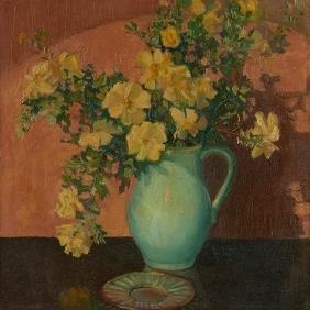 Grant Wood, (american, 1891-1942), Yellow Roses, C.