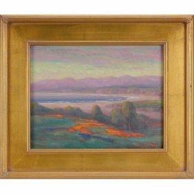 """William Ballantine Dorsey Beach Scene,"""" Oil On Can"""