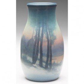 Rookwood Vase, Bulbous Shape In A Vellum Glaze, Nice