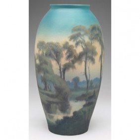 Rookwood Vase, Big Swollen Form, Vellum Glaze Elabo