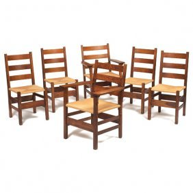 Gustav Stickley Chairs, Set Of Six, #306