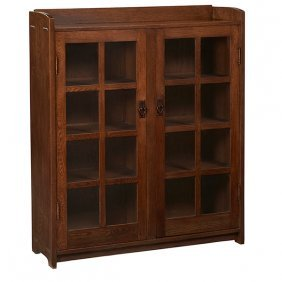 "Gustav Stickley Bookcase, #717 48""w X 13""d X 56""h"