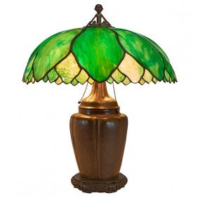 "The Handel Lamp Company Table Lamp 20""dia X 25""h"