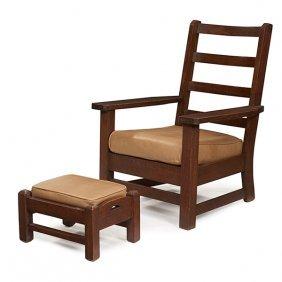 """Limbert Armchair, #865 Armchair: 30""""w X 31""""d X 41""""h"""