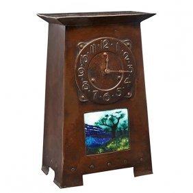 """English Arts & Crafts Clock 7.25""""w X 4.25""""d X 11.5""""h"""