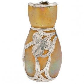 """Loetz Vase 3""""dia X 6""""h"""