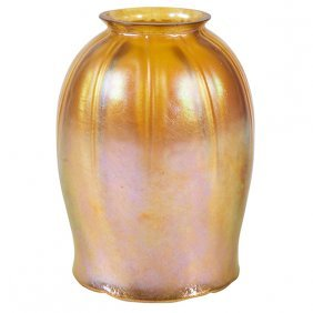 "Louis Comfort Tiffany (1848-1933) Tulip Shade 3.5""dia X"