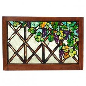Tiffany Studios Grape Trellis Ornamental Window Glass: