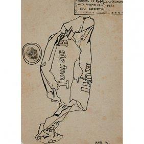 Karl Wirsum, (american, B. 1939), Drawing Of Tootzie