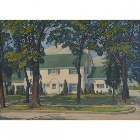 Trew Hocker, (american, 1913-1963), White House, Oil On