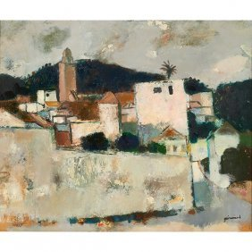 Paul Guiramand, (french, 1926-2008), Landscape, Oil On