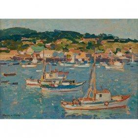 Frank Harmon Myers, (american, 1899-1956), Harbor