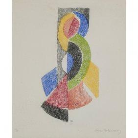 Sonia Delaunay, (ukrainian, 1885-1979), Untitled, Color