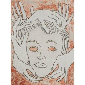 Man Ray, (american, 1890-1976), Masque, 1969, Color