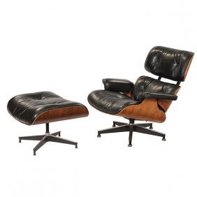 Charles & Ray Eames 670/671 Chair Ottoman Rosewood