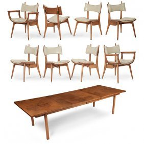Harold M. Schwartz For Romweber Dining Table And Set Of