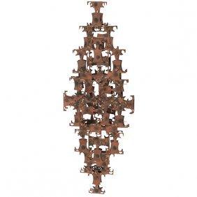 "Marc Weinstein For Marc Creates Llc Wall Sculpture 42""w"