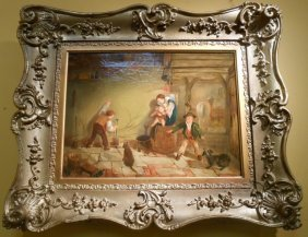 Original Oil Painting By Thomas Faed (1826-1900)